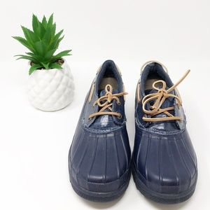 Sperry Topsider Waterproof Rubber Boot Blue 8.5